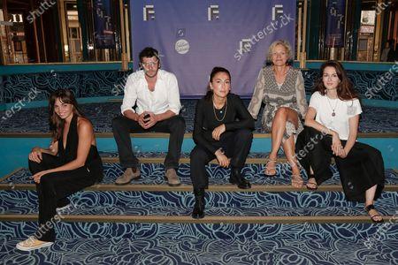 Stock Image of Souheila Yacoub, Felix Moati, Roda Canioglu, Celine Samie and Julia Faure