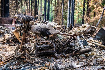 Editorial photo of CZU Lighting complex fire aftermath, Santa Cruz County, USA - 15 Sep 2020
