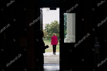 United States Senator Lisa Murkowski (Republican of Alaska) makes her way from the Senate chamber following a vote, to a waiting elevator at the US Capitol in Washington, DC., Wednesday, September 16, 2020. Credit: Rod Lamkey / CNP