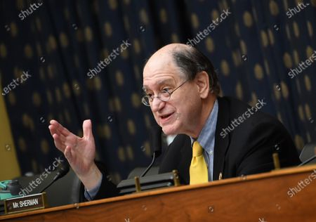 Stock Image of United States Representative Brad Sherman (Democrat of California), questions witnesses during a House Committee on Foreign Affairs hearing looking into the firing of State Department Inspector General Steven Linick, on Capitol Hill in Washington, D.C. on Wednesday, September 16, 2020. The foreign affairs committee issued the subpoenas as part of the panel's probe into accusations that Linick was fired while investigating Secretary of State Mike Pompeo's role in a controversial $8 billion weapons sale to Saudi Arabia.