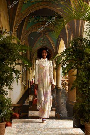 Editorial photo of Nicole Miller show, Runway, Spring Summer 2021, New York Fashion Week, USA - 16 Sep 2020