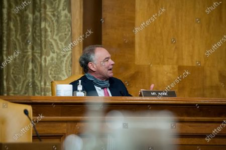 United States Senator Tim Kaine (Democrat of Virginia), questions the panel during a United States Senate Committee on the Budget hearing to examine Federal housing assistance programs, in the Dirksen Senate Office Building on Capitol Hill in Washington, DC., Wednesday, September 16, 2020.