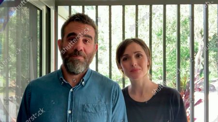 Stock Image of Bobby Cannavale left, and Rose Byrne present the Emmy for Outstanding Prosthetic Makeup For A Series, Limited Series, Movie Or Special during the third night of the 2020 Creative Arts Emmy Awards, streamed live on Emmys.com on