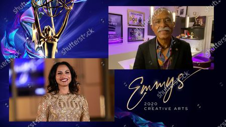 """Monica Raymund presents the Emmy for Outstanding Cinematography For A Multi-Camera Series to Donald A. Morgan for """"The Ranch"""" for """"It Ain't My Fault,"""" his 10th Emmy win of his career, during the third night of the 2020 Creative Arts Emmy Awards, streamed live on Emmys.com on"""