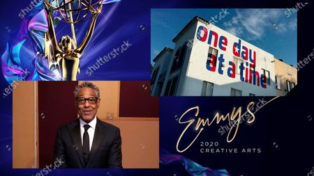 """Giancarlo Esposito presents the Emmy for Outstanding Multi-Camera Picture Editing For A Comedy Series to Cheryl Campsmith for """"One Day At A Time"""" for """"Boundaries"""" during the third night of the 2020 Creative Arts Emmy Awards, streamed live on Emmys.com on"""