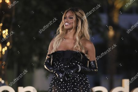 Laverne Cox presents the Emmy for Outstanding Sound Editing For A Comedy Or Drama Series (One Hour) during the third night of the 2020 Creative Arts Emmy Awards, streamed live on Emmys.com on