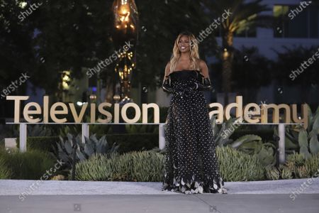 Laverne Cox presents the Emmy for Outstanding Sound Editing For A Comedy Or Drama Series (Half-Hour) And Animation during the third night of the 2020 Creative Arts Emmy Awards, streamed live on Emmys.com on