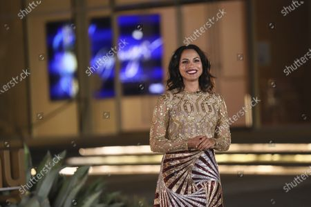Monica Raymund presents the Emmy for Outstanding Cinematography For A Single-Camera Series (Half-Hour) during the third night of the 2020 Creative Arts Emmy Awards, streamed live on Emmys.com on