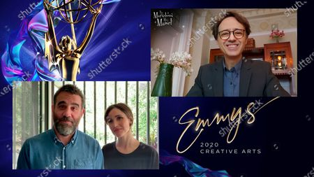 """Stock Picture of Bobby Cannavale and Rose Byrne present the Emmy for Outstanding Period Makeup And/Or Character Makeup (Non-Prosthetic) to Michael Laudati for """"The Marvelous Mrs. Maisel"""" for """"It's Comedy Or Cabbage"""" during the third night of the 2020 Creative Arts Emmy Awards, streamed live on Emmys.com on"""