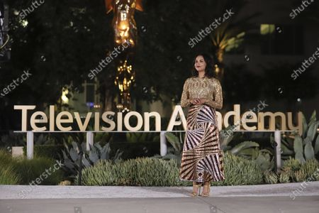 Monica Raymund presents the Emmy for Outstanding Cinematography For A Multi-Camera Series during the third night of the 2020 Creative Arts Emmy Awards, streamed live on Emmys.com on