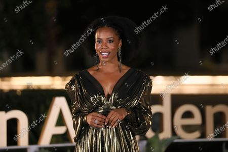 Brandee Evans presents the Emmy for Outstanding Fantasy/Sci-Fi Costumes during the third night of the 2020 Creative Arts Emmy Awards, streamed live on Emmys.com on
