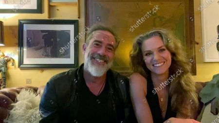 Stock Picture of Jeffrey Dean Morgan, left, and Hilarie Burton present the Emmy for Outstanding Special Visual Effects In A Supporting Role during the third night of the 2020 Creative Arts Emmy Awards, streamed live on Emmys.com on
