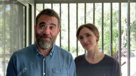 Stock Picture of Bobby Cannavale left, and Rose Byrne present the Emmy for Outstanding Period Makeup And/Or Character Makeup (Non-Prosthetic) during the third night of the 2020 Creative Arts Emmy Awards, streamed live on Emmys.com on