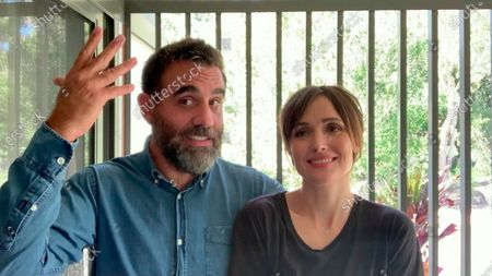 Bobby Cannavale left, and Rose Byrne present the Emmy for Outstanding Contemporary Hairstyling during the third night of the 2020 Creative Arts Emmy Awards, streamed live on Emmys.com on