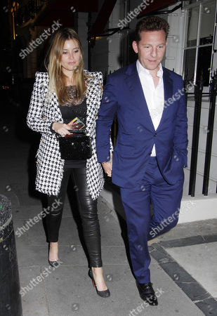 Holly Valance and Nick Candy at Oswald's
