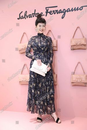 Joanne Tseng promotes for Italy fashion brand Salvatore Ferragamo in Taipei ,Taiwan,China on 16 September 2020