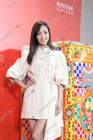 Patty Hou promotes for Smeg and Dolce£¦Gabbana jointly-designed home appliances in Taipei,Taiwan,China on 16 September 2020