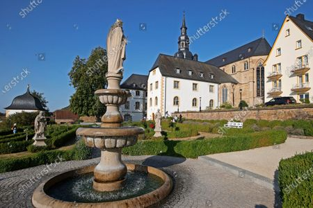 An exterior view of the Benedictine monastery in Tholey, Germany, 17 September 2020, where three new church windows in the choir room were presented, that have been designed and donated by German artist Gerhard Richter to the Tholey Abbey. According to 88-year-old Richter, these artworks would be his last major ones.
