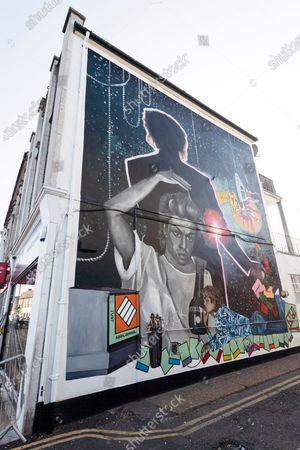 George Michael Mural unveiled in Kingsbury, London