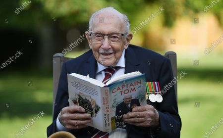 Captain Tom Moore promotes his book 'Tomorrow is a Good Day'