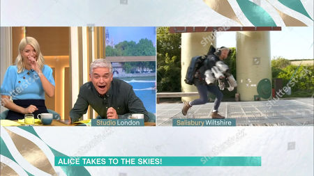 Phillip Schofield, Holly Willoughby, Alice Beer tries a jet pack