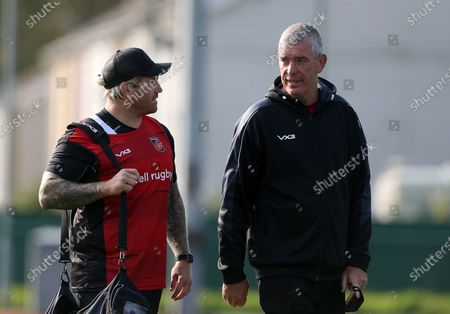 Richard Hibbard and Dean Ryan during training before their clash with Bristol in the European Challenge Cu tomorrow (18th September)