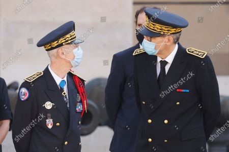 Editorial image of an honorary funeral ceremony for Edgard Tupet-Thome in Paris, France - 17 Sep 2020