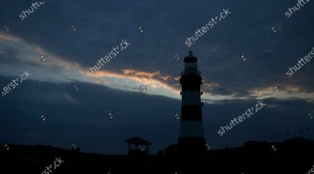 Smeaton's Tower, a memorial to celebrated civil engineer John Smeaton, on the Hoe in Plymouth south west England, . The Mayflower sailed from Plymouth for the Americas on 16th September 1620, 400 years ago. The city boasts the largest operational naval base in Europe
