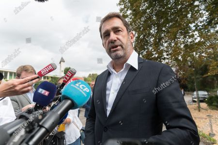 The new president of the group LREM at the national Assembly Christophe Castaner arrives at the parliamentary days.
