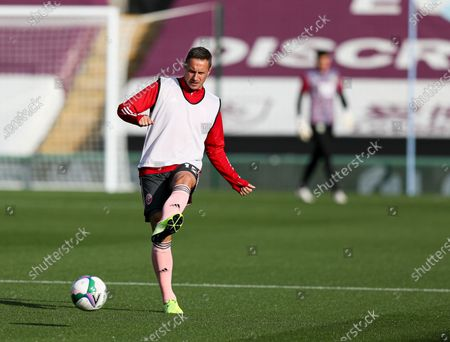 Phil Jagielka of Sheffield United during the warm up