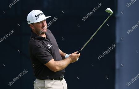 Graeme McDowell of Northern Ireland hits his tee shot on the thirteenth hole during the first round of the 2020 US Open at Winged Foot Golf Club in Mamaroneck, New York, USA, 17 September 2020. The 2020 US Open will be played from 17 September through 20 September in front of no fans due to the ongoing coronovirus pandemic.