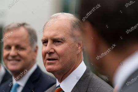 Southwest Airlines CEO Gary Kelly speaks to reporters alongside other airline executives outside the White House on September 17th, 2020 in Washington, D.C.