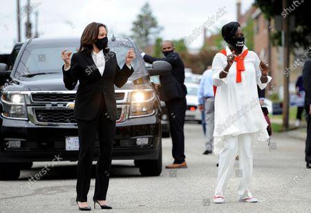 Kamala Harris campaigning, Philadelphia