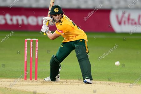 Joe Clarke of Nottinghamshire during the Vitality T20 Blast North Group match between Nottinghamshire County Cricket Club and Derbyshire County Cricket Club at Trent Bridge, Nottingham