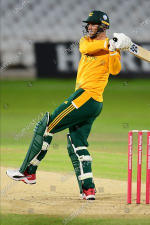 Alex Hales of Nottinghamshire during the Vitality T20 Blast North Group match between Nottinghamshire County Cricket Club and Derbyshire County Cricket Club at Trent Bridge, Nottingham