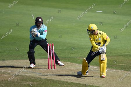 Ben Foakes of Surrey stumps Felix Organ