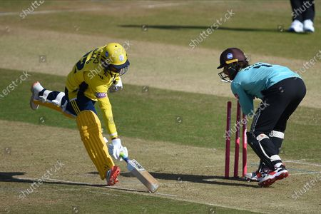 Editorial photo of Hampshire v Surrey, Vitality Blast, T20 Cricket, The Ageas Bowl, Southampton UK - 18 Sep 2020