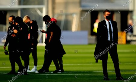 Shamrock Rovers vs AC Milan. AC Milan technical director Paolo Maldini