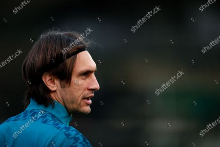 Stock Picture of Shamrock Rovers vs AC Milan. AC Milan's Paolo Maldini