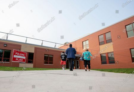 Stock Photo of Voters head to the polls at Claymont Elementary in Claymont, Del