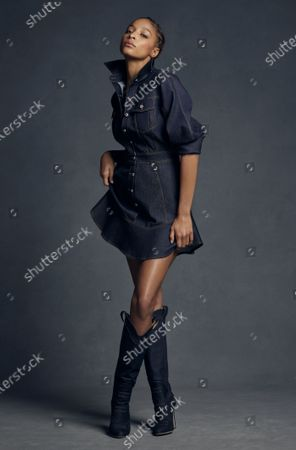 A Model wearing an outfit from the Womens Ready to wear, pret a porter, collections, summer 2021, original creation, during the Womenswear Fashion Week in New York, from the house of Brandon Maxwell