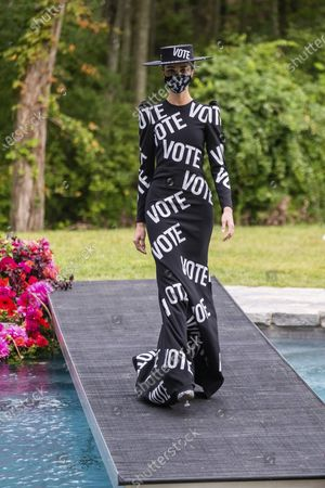 The Christian Siriano collection is modeled at Christian's home as part of New York Fashion Week, in Westport, Conn