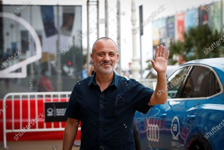 Javier Gutierrez poses at his arrival to the guest's hotel of the 68th edition of the San Sebastian International Film Festival (SSIFF), in San Sebastian, Spain, 17 September 2020. The festival runs from 18 to 26 September.