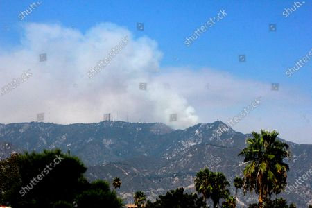 Smoke is seen from the Bobcat Fire burning actively near Mount Wilson northeast of Los Angeles on . The peak is the site of historic Mount Wilson Observatory, which played a pivotal role in early 20th century astronomy. The fire also made a run at the peak earlier in the week but firefighters were able to defend the observatory. The fire also was active on the north side of the mountain range where authorities ordered evacuation of the community of Juniper Hills