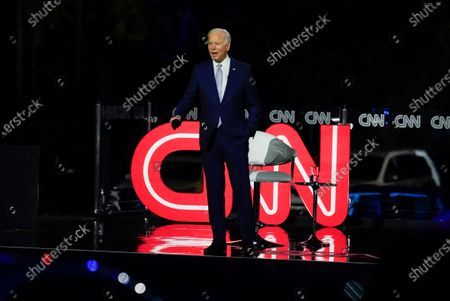 Democratic presidential candidate former Vice President Joe Biden participates in a CNN town hall moderated by CNN's Anderson Cooper in Moosic, Pa