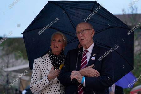 Sen. Pat Roberts, R-Kan., and his wife Franki Roberts attend the dedication ceremony for the monument dedicated to Dwight D. Eisenhower, in Washington, . Designed by world-renowned architect Frank Gehry, the memorial honors Eisenhower, the young man from Abilene, Kansas who went on to West Point and became a General, a U.S. President and one of the most notable and successful leaders of the last century