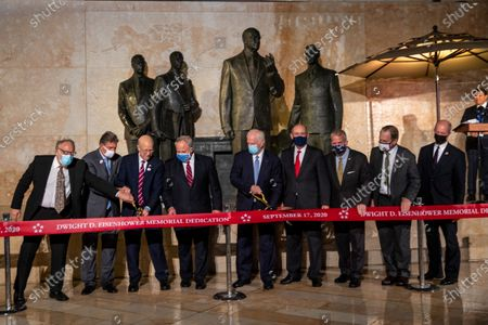 Editorial image of The dedication ceremony for the Dwight D. Eisenhower Memorial, Washington Dc, USA - 17 Sep 2020