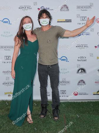 Rebecca Harrell Tickell and Ian Somerhalder