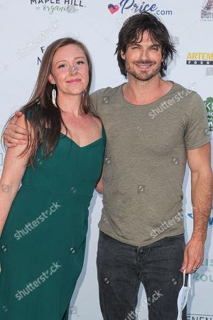 Stock Photo of Rebecca Harrell Tickell and Ian Somerhalder