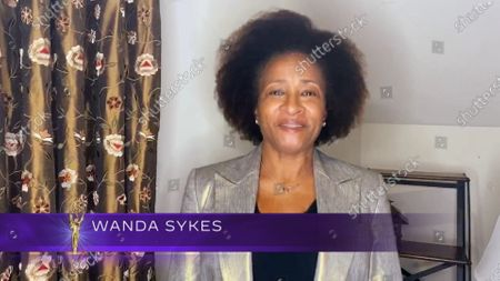 Stock Image of Wanda Sykes presents the Emmy for Outstanding Short Form Animated Program during the fourth night of the 2020 Creative Arts Emmy Awards, streamed live on Emmys.com on